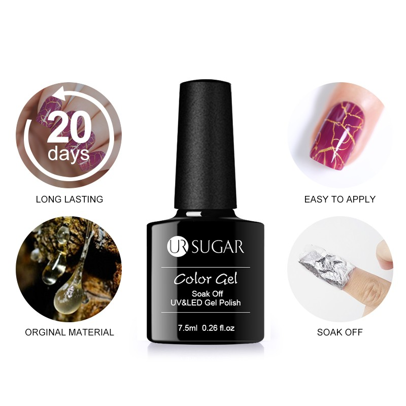UR02 UR SUGAR Crackle Gel Polish